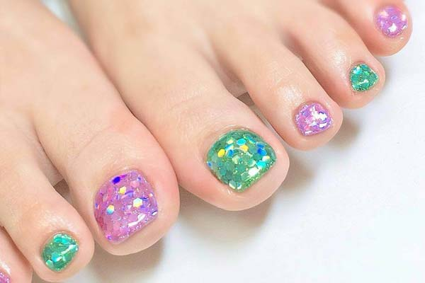 Gel toe nail art designs