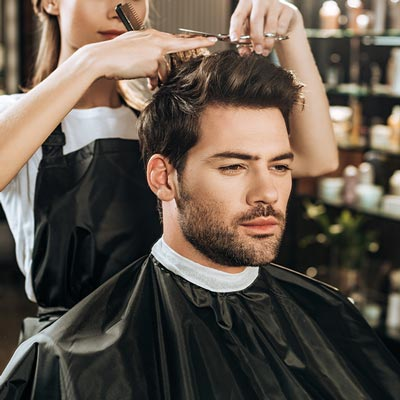 Men's hair cuts in our Martensville Barbershop